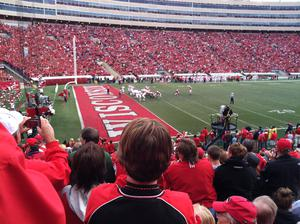 Hanging out at the Badger game